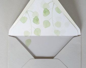 A7 Envelope Liner/Envelope Template/DIY envelope Liner/Eucalyptus Leaf