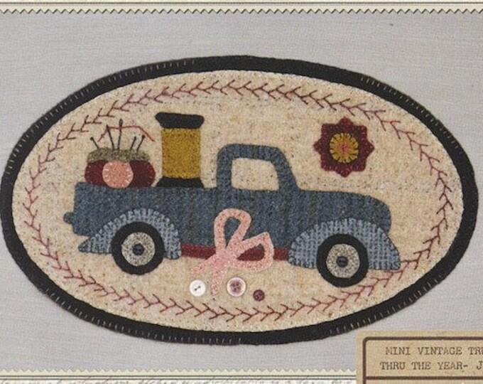 Pattern: Mini Vintage Truck Thru the Year - June Sewing, by Buttermilk Basin