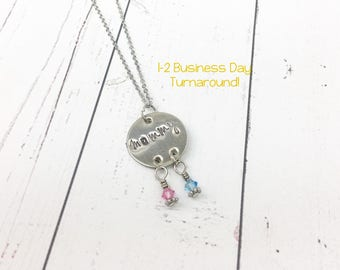 Dream Catcher Necklace - Mommy Necklace - Birthstone Necklace - Kids Birthstone Necklace - Mother's Day Gift