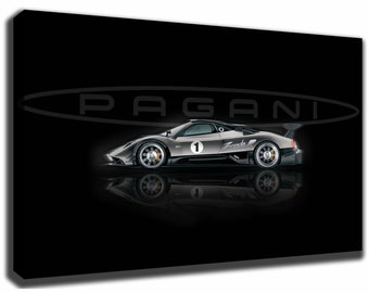 PAGANI ZONDA R Canvas/Poster Wall Art Pin Up HD Gallery Wrap Room Decor Home