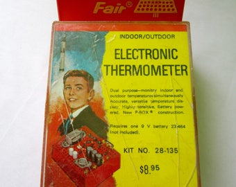 Science Fair Electronic Thermometer Radio Shack Rare P-Box Kit Project