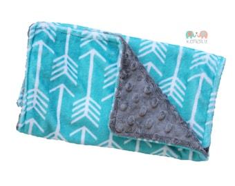 Burp Cloths Turquoise Arrow Minky Burp Cloth - Baby Shower Gift - Burp Rag - Feeding - Nursing - Newborn Essentials - New Mom Gift