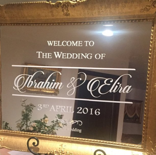 Welcome To Mr Hardison S Page: Welcome To The Wedding Of. Custom Wedding/Engagement Decal For