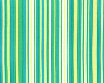 Play Stripe Caribbean Multi Green by Michael Miller