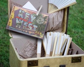 Vintage Travel Postcard Key West Beach Save the Date Wedding Invitation