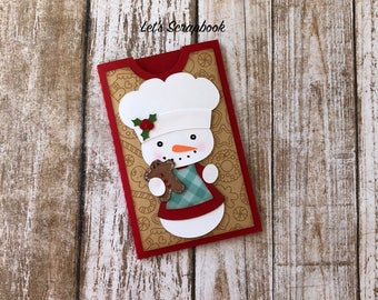 Snowman Gift Card Holder, Gift Card Holder, Snowman, Christmas, Holiday Greetings, Christmas Gifts, Gift For Coworker, Card Holder, Gift