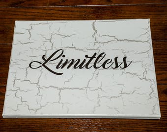Limitless Sign, Inspirational Wall Art, Dorm Decor, Gift for Graduate, Motivational Gift, Gift for Young Adult, Limitless, Neutral Wall Art