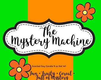 The Mystery Machine - Bookish Scented Candle - Scented Candles - Scooby Doo - Candle Gift - Novelty Gift Candle - Fandom Candle - Candles -