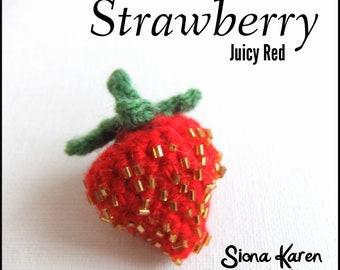 Strawberry Crochet Pattern PDF