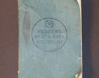 Webster's Army & Navy Pocket Dictionary