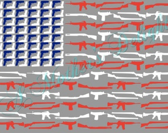 2nd Amendment Flag SVG