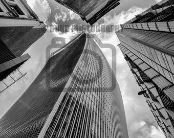 Photographic Print - Looking Up at the London Skyline