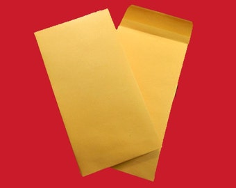 "10 Kraft Envelopes With Gummed Closure. 10 Kraft Coin Envelopes. 3.5"" by 6.5"". 5224"