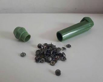 Vintage Drawing Pin Storage and Removal Pen Jade Green