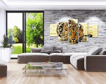 Blue Eyed Jaguar Canvas Set Animal Canvas Set Animal Poster Animal Wall Decor Jaguar Canvas Set Jaguar Poster