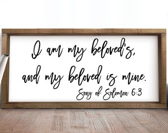 I Am My Beloved's And My Beloved Is Mine SVG, Love Svg, Wedding SVG, Wedding Sign, Living Room Svg, Cut Files, Svg, Jpg, Cricut, Silhouette