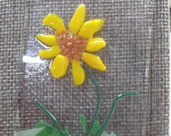 Sunflower Fused Glass Suncatcher