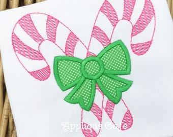 1023 Candy Canes Machine Embroidery Applique Design