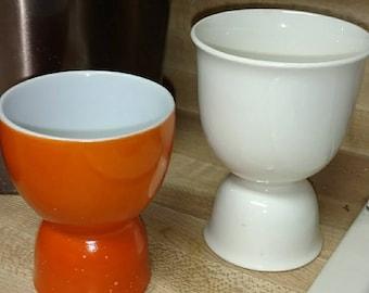 2 1970s vintage egg cups.