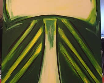 Portland Timbers FC Logo Abstract Painting