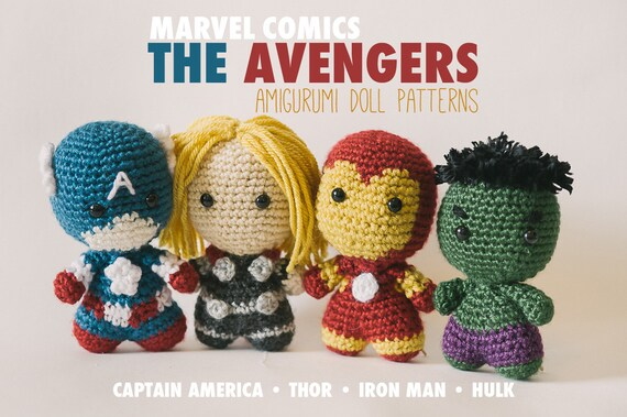 Amigurumi Male Doll Pattern : The avengers amigurumi dolls inspired by marvel comics