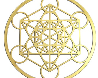 Metatron's Cube Cut Out Design 18K Gold Plated YA-61