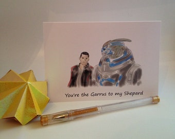 You're the Garrus to my Shepard Bromance greeting card - Mass Effect series