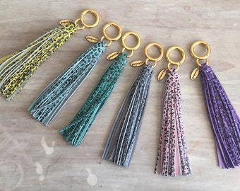 Colorful Leopard Printed Long Tassels