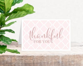 Printable Valentine's Card | Thankful for you