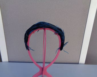 Blue Pheasant Feather Headband