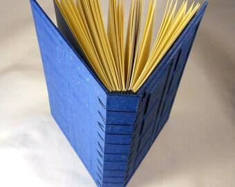 Secret Belgian Doctor Who Tardis Journal like River Song's Journal--Hand Made Journal, Spoiler Keeper, Larger on the inside