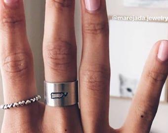 Puerto Rico Metalstamped ring