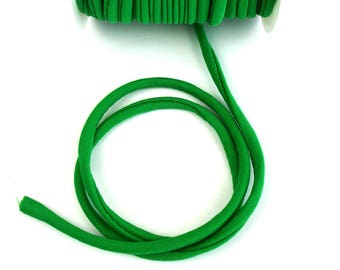 Elastic cord in green fabric for making headbands X 50 cm