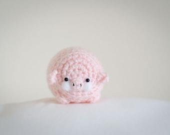 Cute Mystery Pig Amigurumi Kawaii Piglet- Amigurumi Piglet Crochet  OOAK