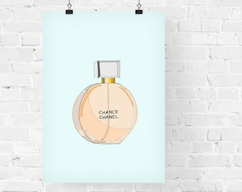 Chanel Chance Perfume Fashion Illustration Art Print
