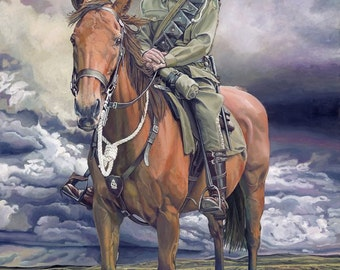 Rusty and Jack - Ltd Ed. Giclée Art Print on Canvas by Jane Nicol for Wounded Heroes