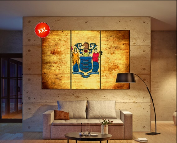 new jersey state flag  canvas wall art new jersey state flag wall decoration new jersey state flag canvas wall art art large canvas wall art