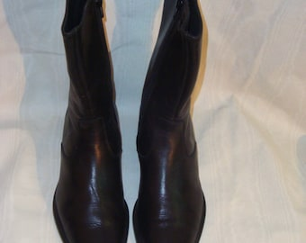 Black Leather Kenneth Cole Ankle Boots 36.5-6.5M