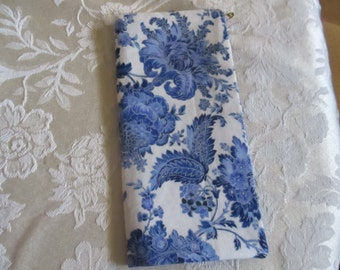Credit card or business card case, blues, purse accessory