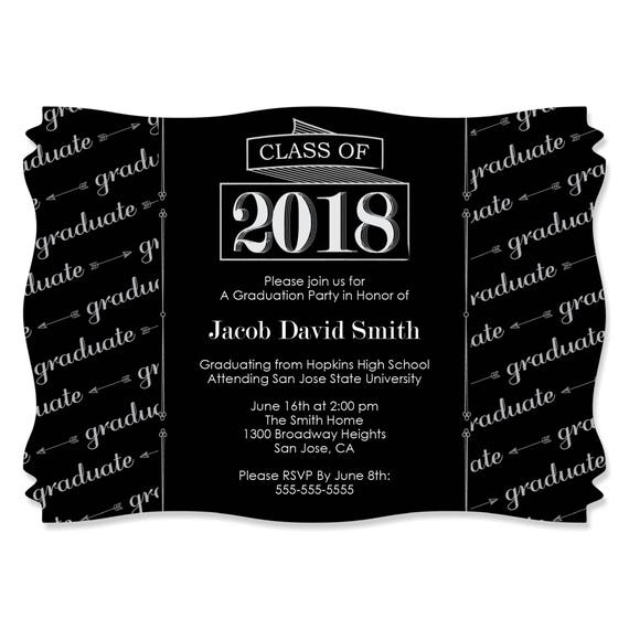 Graduation party invitations custom 2018 graduation cheers filmwisefo Image collections