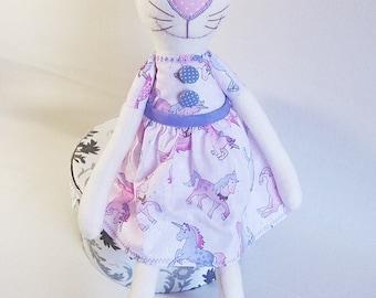 """Stuffed animal, stuffed animal cat """"Maunzi"""""""