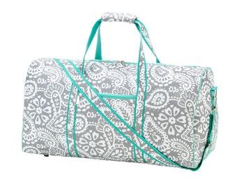 Parker Paisley Duffel Bag  Monogrammed Duffel  Paisley Print Personalized Duffel  Monogrammed Duffel Bag  Travel Duffel Bag  Kids Duffel 