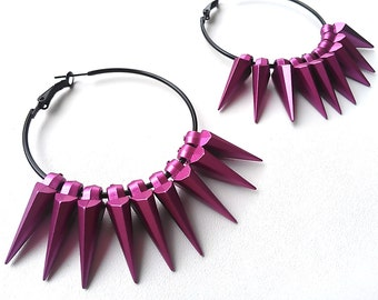 Apache Arrowhead Hoops in HOT PINK. Fast Shipping with Tracking for US Buyers. Gift Box Included.