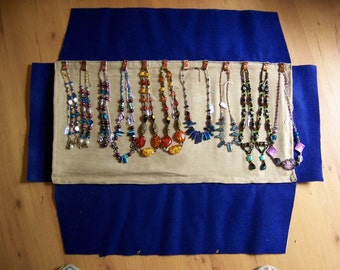 Jewelry Roll Pattern,Beaded Necklace Display,Necklace Display Pattern,Necklace Storage & Organization,Dorm Decor