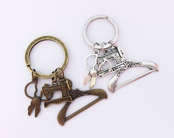SEWER Keychain Sewer Keyring Gift for a Sewer Mothers Day Gift Dressmaker Gift Quilting Gift Dressmaker Keychain Sewer Keychain Sewing Gift