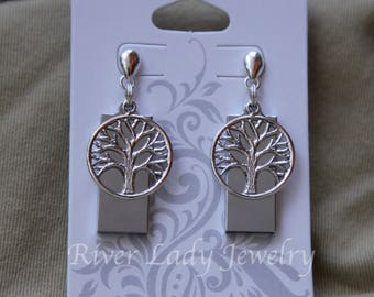 Celtic Tree of Life USB Drive Earrings