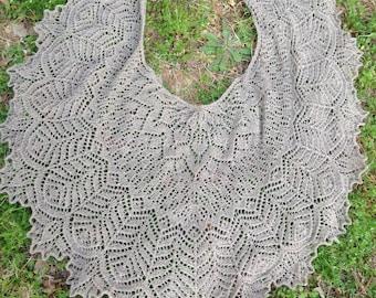 Hand Knit Alpaca Lace Shawl