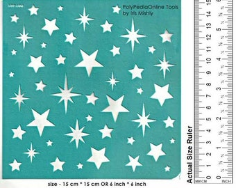 """Stencil Stencils Pattern Template, Wall Decor Reusable, Adhesive, Flexible, for polymer clay, fabric, glass, cards 