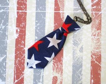 Unisex Mini Tie Star Necklace Pin