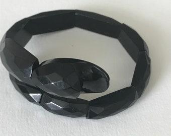 A Whitby Jet Serpent Bracelet